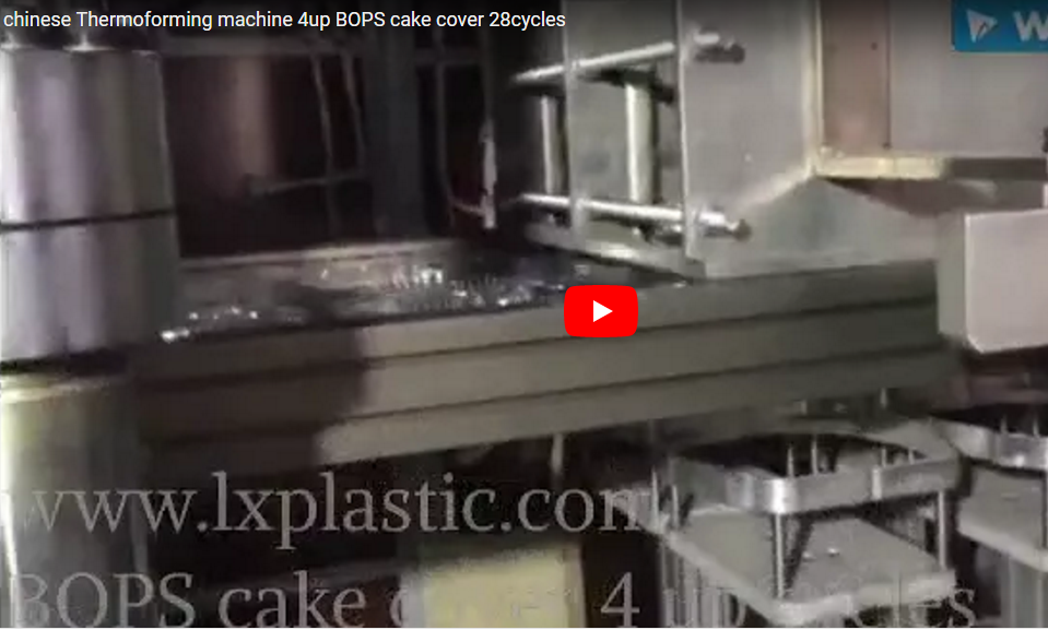 LX3122IM3IN1 Thermoforming machine 4up BOPS cake cover 28cycles
