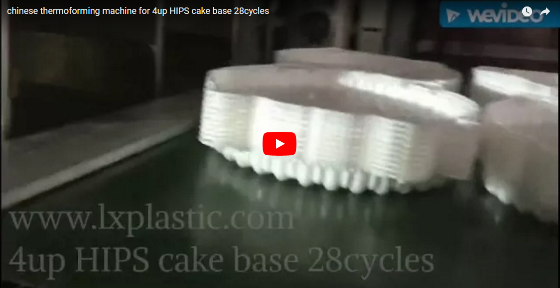 LX3122IM 3in1 chinese thermoforming machine for 4up HIPS cake base 28cycles