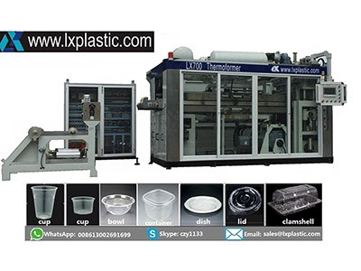 LX76UN-IM 2in1  servo thermoforming Machine