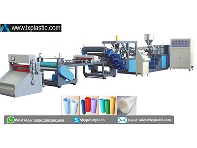 LX800-1-TIG mono layer PP PS  sheet extrusion line