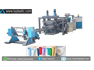 LX800-2-TMIR double layer PP PS  sheet extrusion line