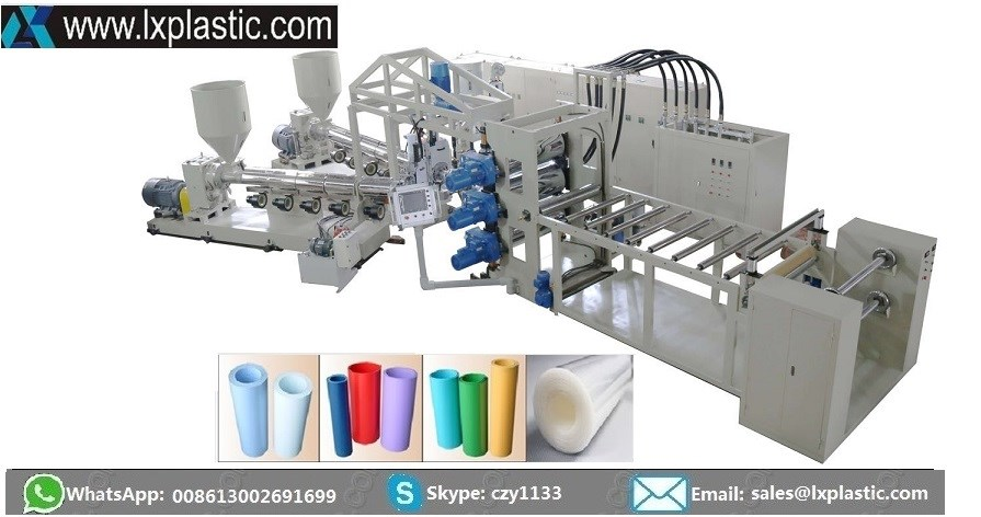 PP PS double sheet extrusion line